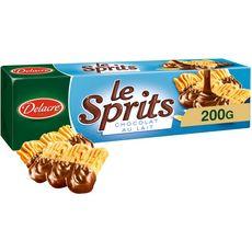 DELACRE Sprits, biscuits nappés sablés au chocolat au lait 200g