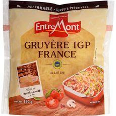 Entremont Les Terroirs gruyère râpé IGP 150g