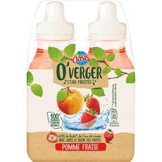 OASIS O'Verger eau fruitée saveur pomme fraise 4x20cl