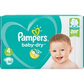 Pampers couches baby dry géant 9/14kg x44 taille 4