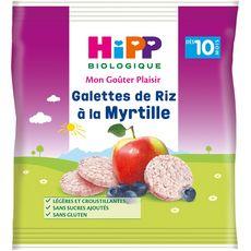 Hipp bio galette de riz à la myrtille sachet 30g dès 10 mois