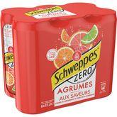 Schweppes Schweppes Boisson gazeuse zéro saveur 4 agrumes boîtes 6x33cl