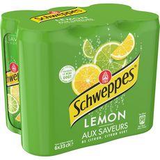 SCHWEPPES Boisson gazeuse saveur lemon citron citron vert boîtes slim 6x33cl