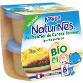 Nestlé Naturnes hachis parmentier canard bio 2x190g dès 8 mois