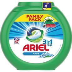 Ariel pods lessive alpine écodose x47 -1,49l