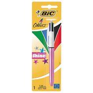 Bic stylo à bille pointe moyenne 4 couleurs shine metallic