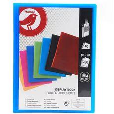 AUCHAN Auchan Protège-document A4 80 vues 21x29,7cm coloris assortis 1 pièce