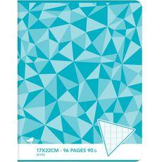 AUCHAN Auchan Cahier seyes 17x22cm - 96 pages grand carreaux 1 pièce