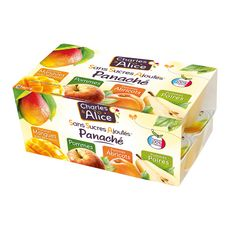 Charles & Alice pomme mangue abricot poire 16x100g