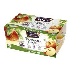 CHARLES ET ALICE Spécialité pomme sans sucres ajoutés 16x100g