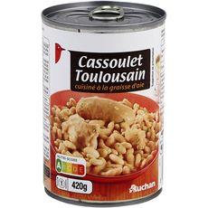 AUCHAN Cassoulet toulousain 1 personne 420g