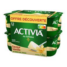 Activia Yaourt bifidus saveur vanille 12x125g
