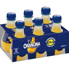 Orangina Boisson gazeuse à la pulpe de fruit jaune bouteilles 6x25cl
