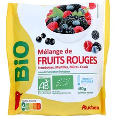 Auchan bio Mélange de Fruits rouge 450g