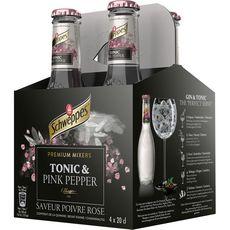 SCHWEPPES Schweppes Boisson pour cocktail premium mixer pink pepper bteilles 4x20cl 4x20cl