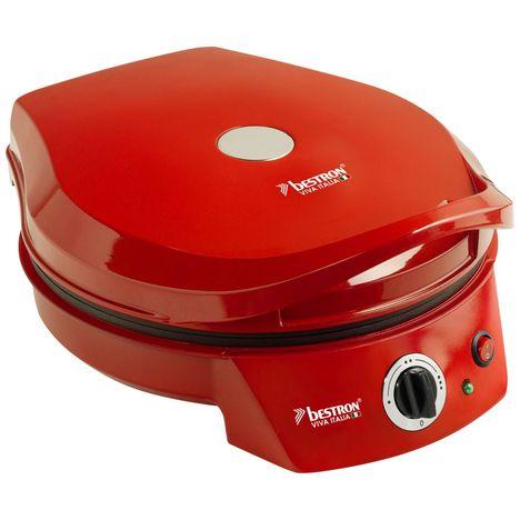 BESTRON Four à pizza gril - APZ400 - Rouge