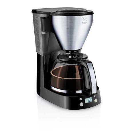 MELITTA Cafetiere programmable Easy Top Timer 1010-15 Noir/Acier Brossé