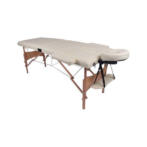 YOGHI Table de massage pliante - TDM102 - Blanc