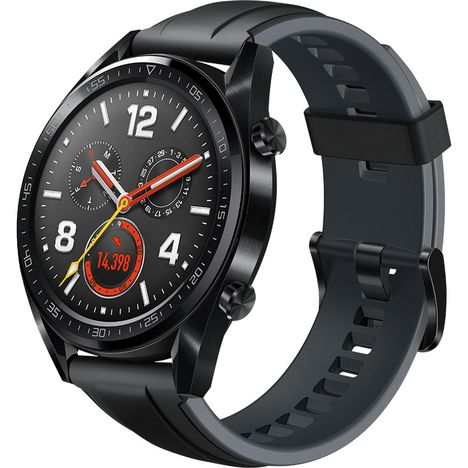 HUAWEI Montre connectée - Watch GT - Noir Silicone