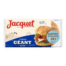 Jacquet hamburger géant nature x4 -330g