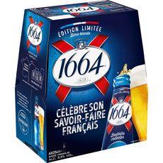 1664 Bière blonde 5,5% bouteilles 6x25cl