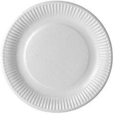Actuel Assiettes en carton blanc 23cm compostables