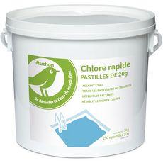 AUCHAN Auchan Chlore pastilles dissolution rapide pour piscine 5kg 5kg
