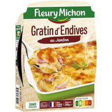 Fleury Michon gratin d'endives au jambon 280g