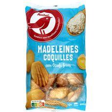 Auchan madeleines coquilles sachet individuel 600g