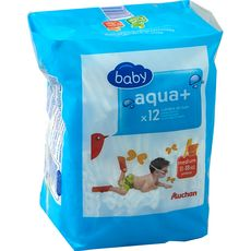 Auchan baby Aqua + couches-culottes de bain taille M (11-18kg) x12
