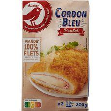 AUCHAN Cordon bleu de poulet 2 pièces 200g