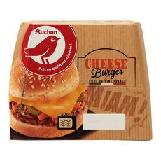 AUCHAN Pause snack cheeseburger 145g
