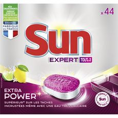 Sun tout en 1 expert extra power citron tablette x44 -770g