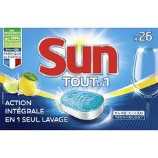 Sun tablettes lave-vaisselle tout en 1 citron 26 lavages