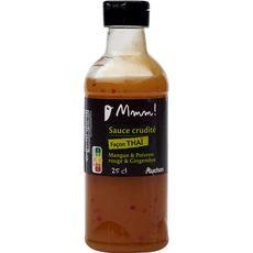 AUCHAN MMM! Sauce crudités façon thaï mangue poivron rouge gingembre 25cl