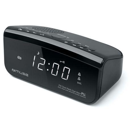 MUSE Radio-réveil avec port USB de chargement - Noir - M-16 CR