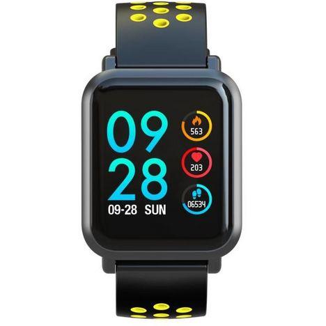 ABYX Tracker d'activité - Montre FIT TOUCH - Bluetooth - NOIR JAUNE