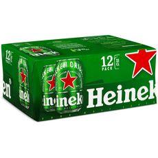 Heineken bière blonde premium 5° 12x33cl