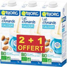 BJORG Bjorg lait d'amande calcium bio 2x1l +1l offert 1l