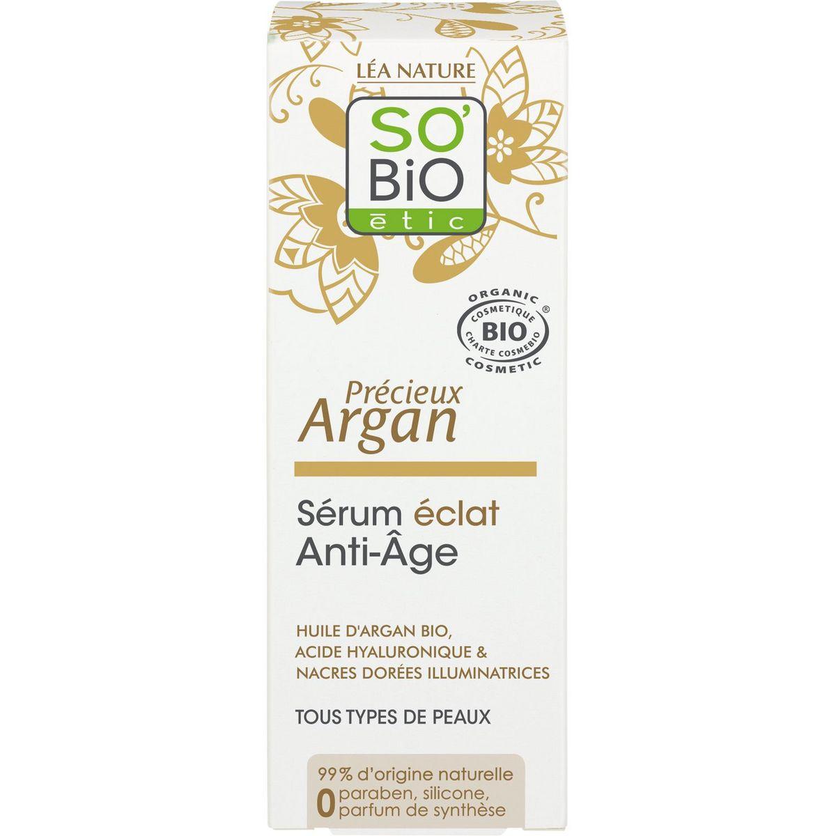 So'Bio étic Sérum éclat anti-âge tous types de peaux 30ml