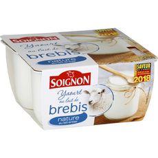 SOIGNON SOIGNON Yaourt nature au lait de brebis 4x110g 4x110g 4x110g
