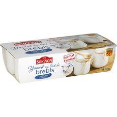 SOIGNON Soignon yaourt au lait brebis nature 8x110g format familial