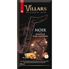 Villars chocolat gourmand noir noisette crêpe dentelle 180g