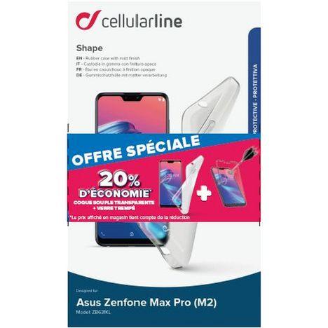 CELLULARLINE Lot coque + protection d'écran pour Zenfone Max Pro M2