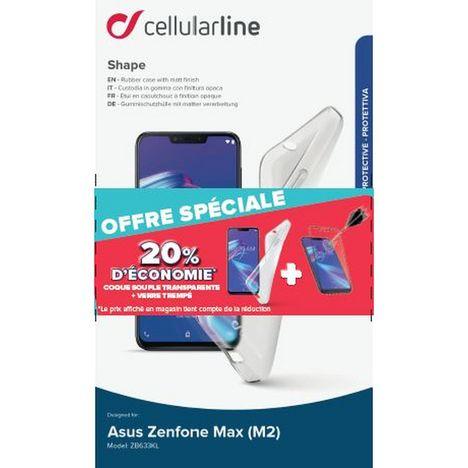 CELLULARLINE Lot coque + protection d'écran pour Zenfone Max M2