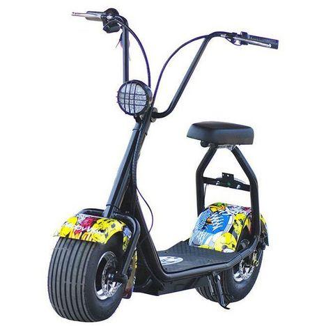 MOOVWAY Scootbike électrique avec selle Coco Graffiti