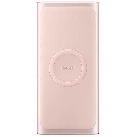 SAMSUNG Batterie Externe Sans Fil Induction Rose 10000 mAh