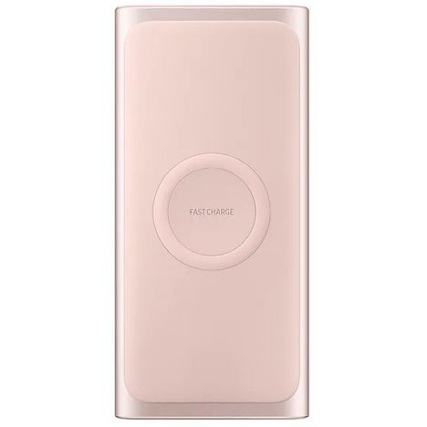 SAMSUNG Batterie Externe Sans Fil Induction Rose 10000 mAh