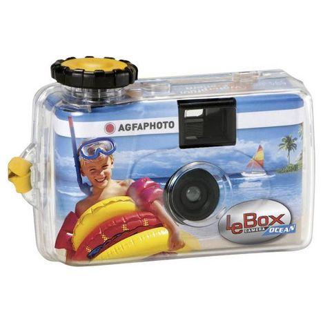 AGFA Appareil photo jetable étanche LeBox Ocean 27 poses