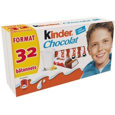 KINDER Chocolat en bâtonne 2x16 pièces 400g